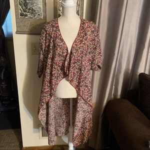 LulaRoe Shirley Floral Long Duster | Small